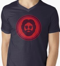 O Captain! My Captain! (Jerry Garcia / red) Men's V-Neck T-Shirt
