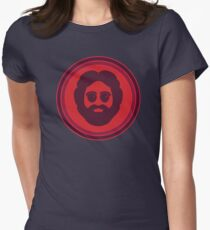 O Captain! My Captain! (Jerry Garcia / red) Women's Fitted T-Shirt