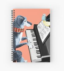 Piano lesson ( Doggy Art )  Cuaderno de espiral