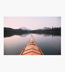 Sparks Lake kayak, Oregon Photographic Print