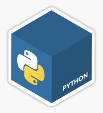 Programming Skill Cube - Python Sticker
