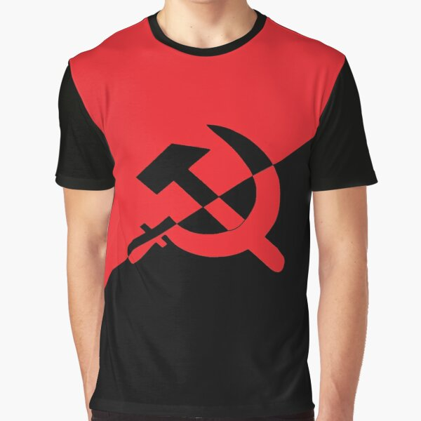 Anarcho-Communism Flag Graphic T-Shirt