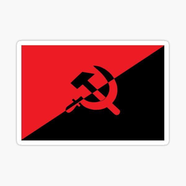 Bandera Anarco-Comunista Pegatina
