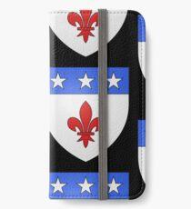 French France Coat of Arms 1477 Blason de la ville de Beaulieu lès Loches  iPhone Wallet/Case/Skin