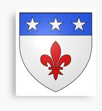 French France Coat of Arms 1477 Blason de la ville de Beaulieu lès Loches  Canvas Print