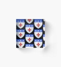 French France Coat of Arms 1477 Blason de la ville de Beaulieu lès Loches  Acrylic Block