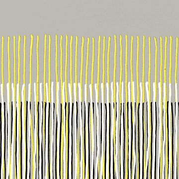 Yellow Rising - Abstract Stripes in Yellow, Grey, Black & White by micklyn