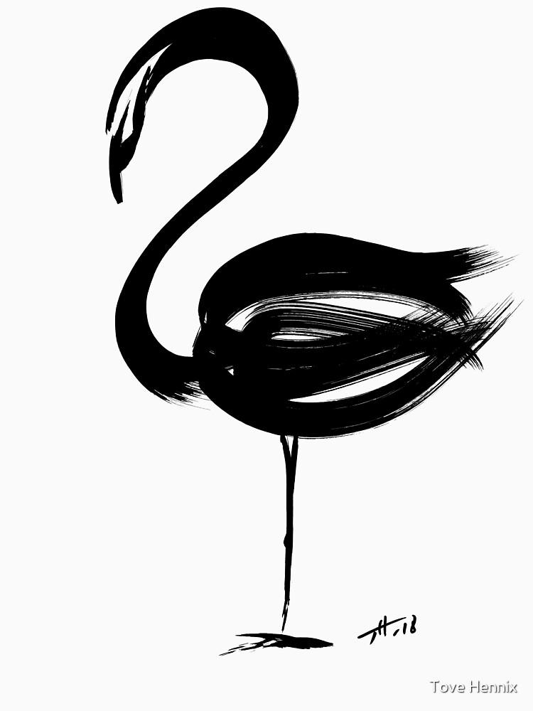 Flamingo - fusion of pen strokes by ToveHennix