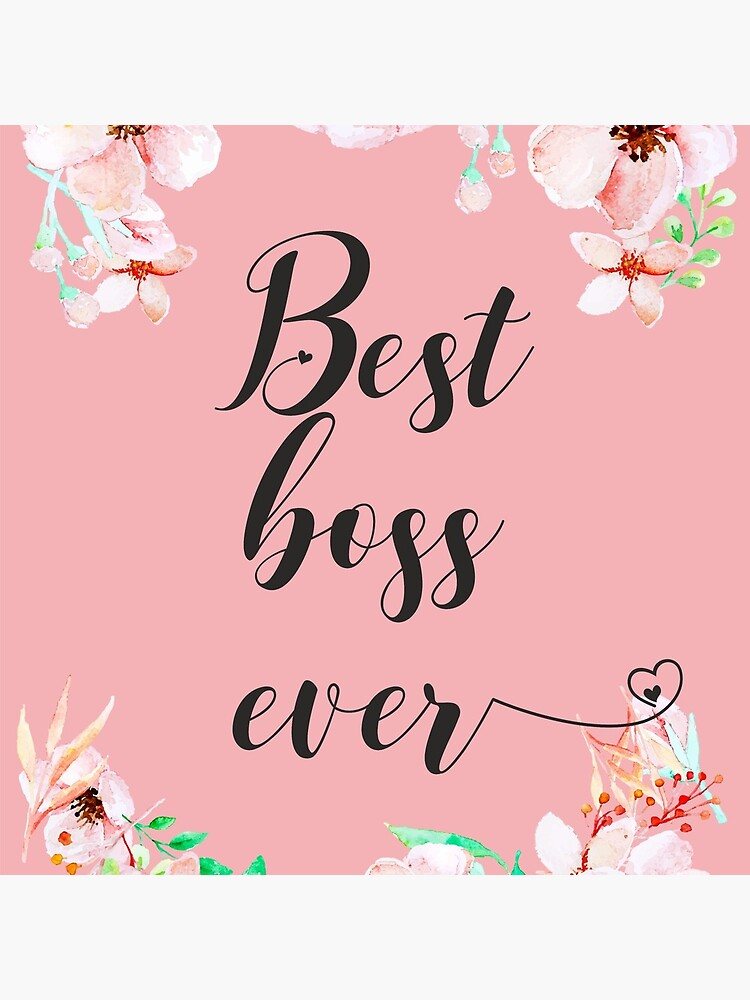 Best Boss Ever / Boss Quote / Office Quotes / Office Wall Art / Boss Thank you Gift by tanabe