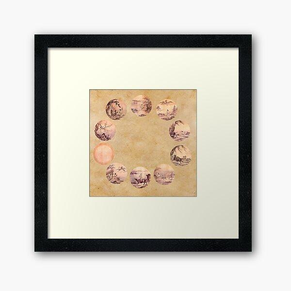 The Ten Oxherding Zen Framed Art Print
