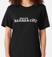 Max's Kansas City (White) Slim Fit T-Shirt