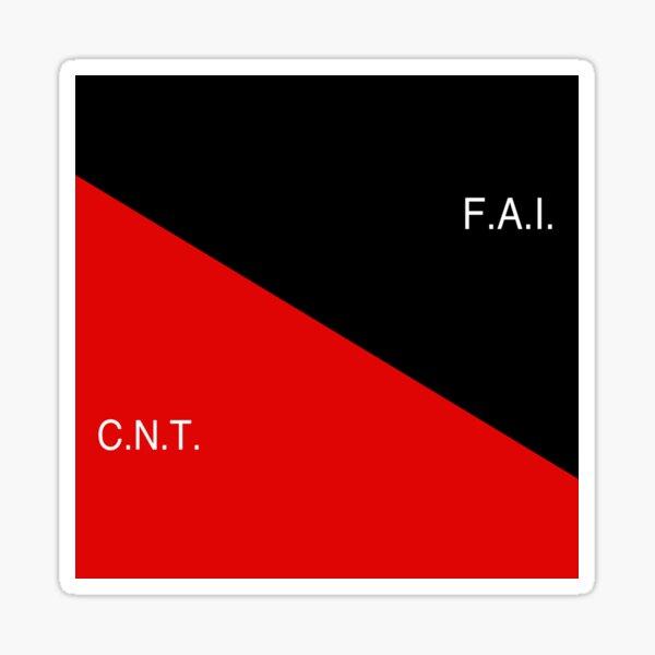 Bandera CNT-FAI (Federación Anarquista Ibérica - Confederación Nacional del Trabajo) Pegatina