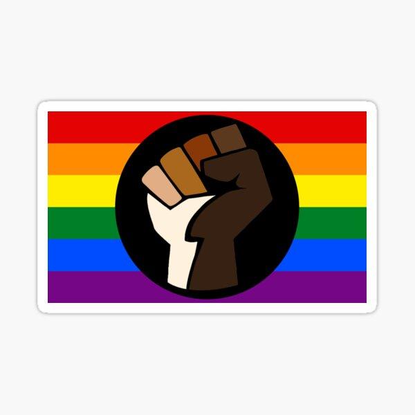 Bandera de orgullo interseccional Pegatina