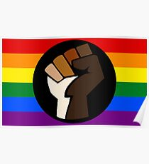 Intersectional Pride Flag Poster