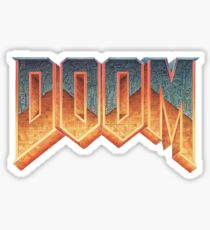 Doom –– RETRO LOGO –– Sticker