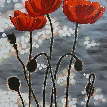 Poppies by the River by antonioluppino