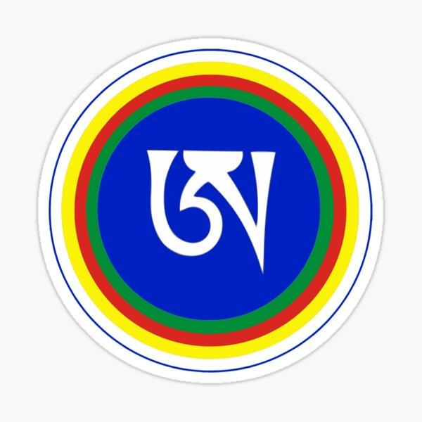 Dzogchen Meditation Tibetan Letter A Symbol Buddhism Design Sticker