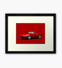 Eunos Roadster MK1 Classic Red Framed Print