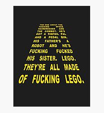 The Thick of It Star Wars Malcolm Tucker Quote Photographic Print