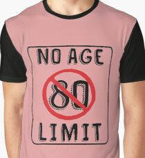 No Age Limit 80th Birthday Gifts Funny B Day For 80 Year Old Graphic T