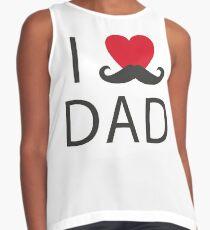 i love dad Contrast Tank