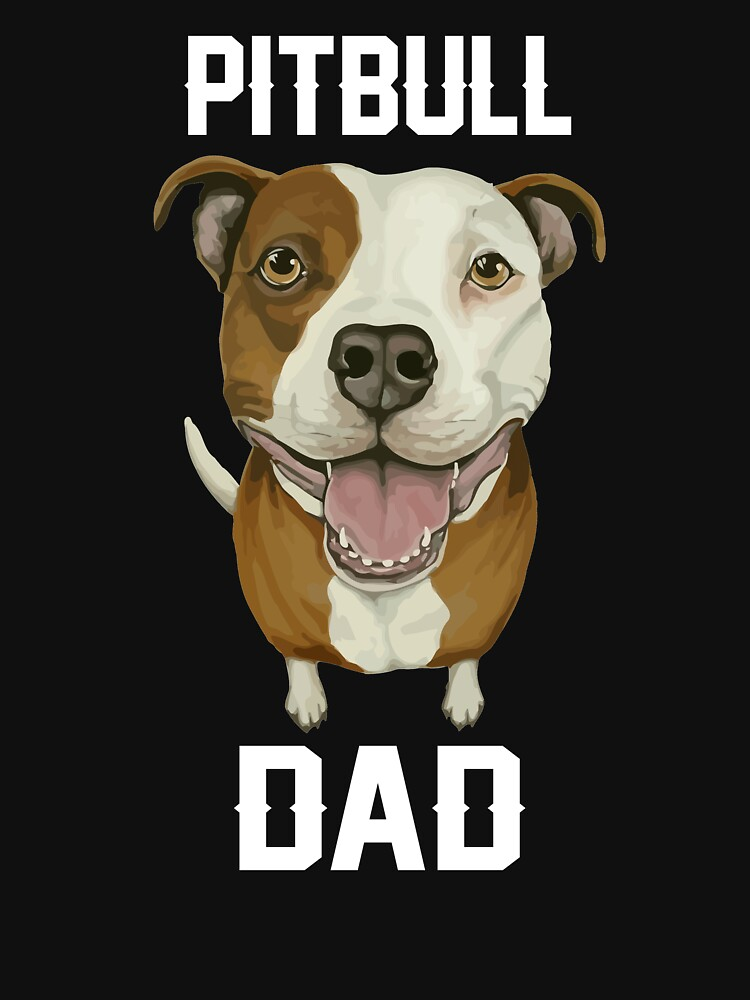 Men Pitbull Dad t-shirt by phungngocquynh