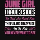 As a June girl i have 3 sides tshirt gift by phungngocquynh