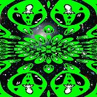 A pattern of Green Aliens by Dennis Melling