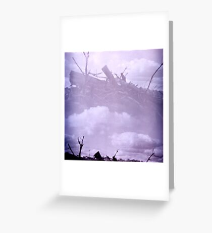 Wooden Sky Boat Greeting Card