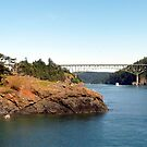 Deception Pass Bridge Four by Rick Lawler