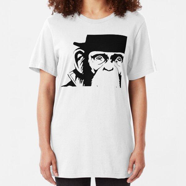 Lancelot Link Chimp Face Slim Fit T-Shirt