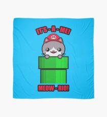 Cat Cute Funny Kawaii Mario Parody Scarf