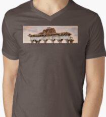 Temple of Saturn Pediment and Capitals Men's V-Neck T-Shirt