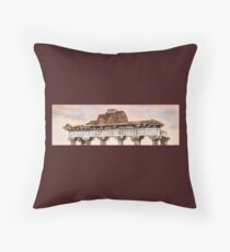 Temple of Saturn Pediment and Capitals Floor Pillow