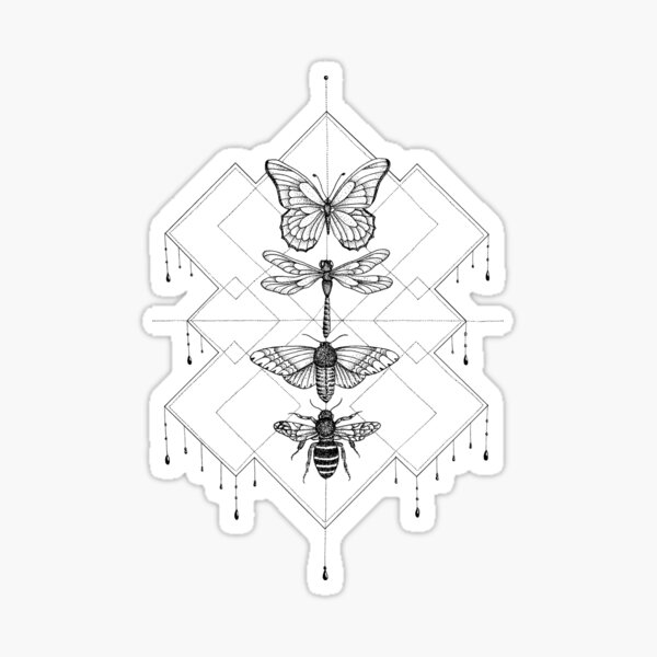 Flying Insects Sticker