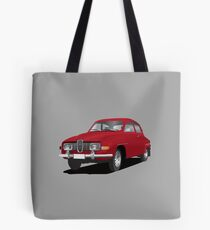 SAAB 96 in red - illustration Tote Bag