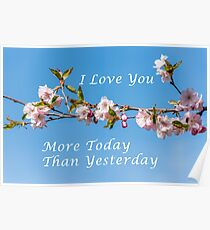 I Love You More Today Than Yesterday Poster