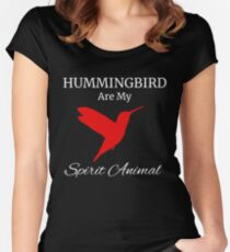 Hummingbird tee shirt for men | women my spirit animal Women's Fitted Scoop T-Shirt