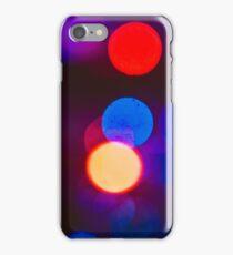 Blue midnight Bokeh circles iPhone Case/Skin