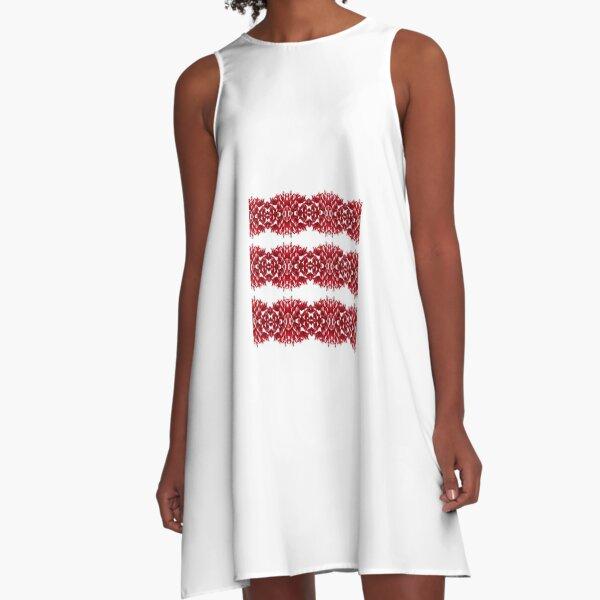 #Structure, #framework, #composition, #frame, #texture, #decoration, #motif, #marking,   #Ornament A-Line Dress