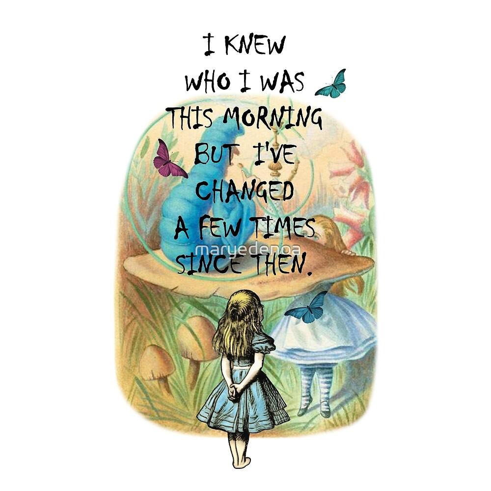 «Cita Alicia en el país de las maravillas» de maryedenoa
