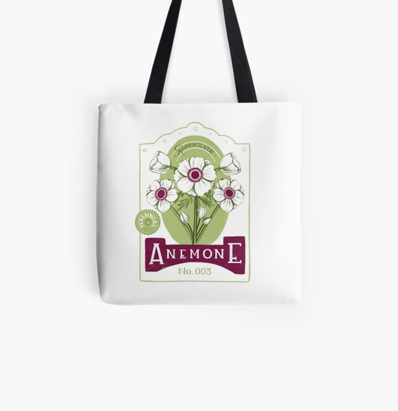 Anemone All Over Print Tote Bag