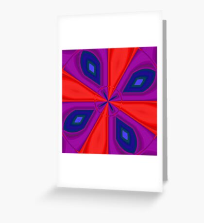 Red, Purple and Gold Quadrant Greeting Card