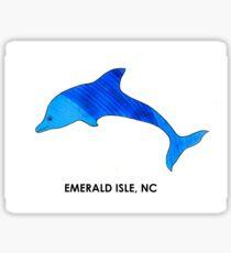 Sea Blue Dolphin (Emerald Isle, NC) Sticker