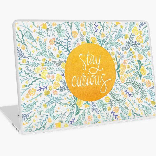 Stay Curious – Yellow & Green Laptop Skin