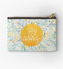 Stay Curious – Yellow & Green Studio Pouch