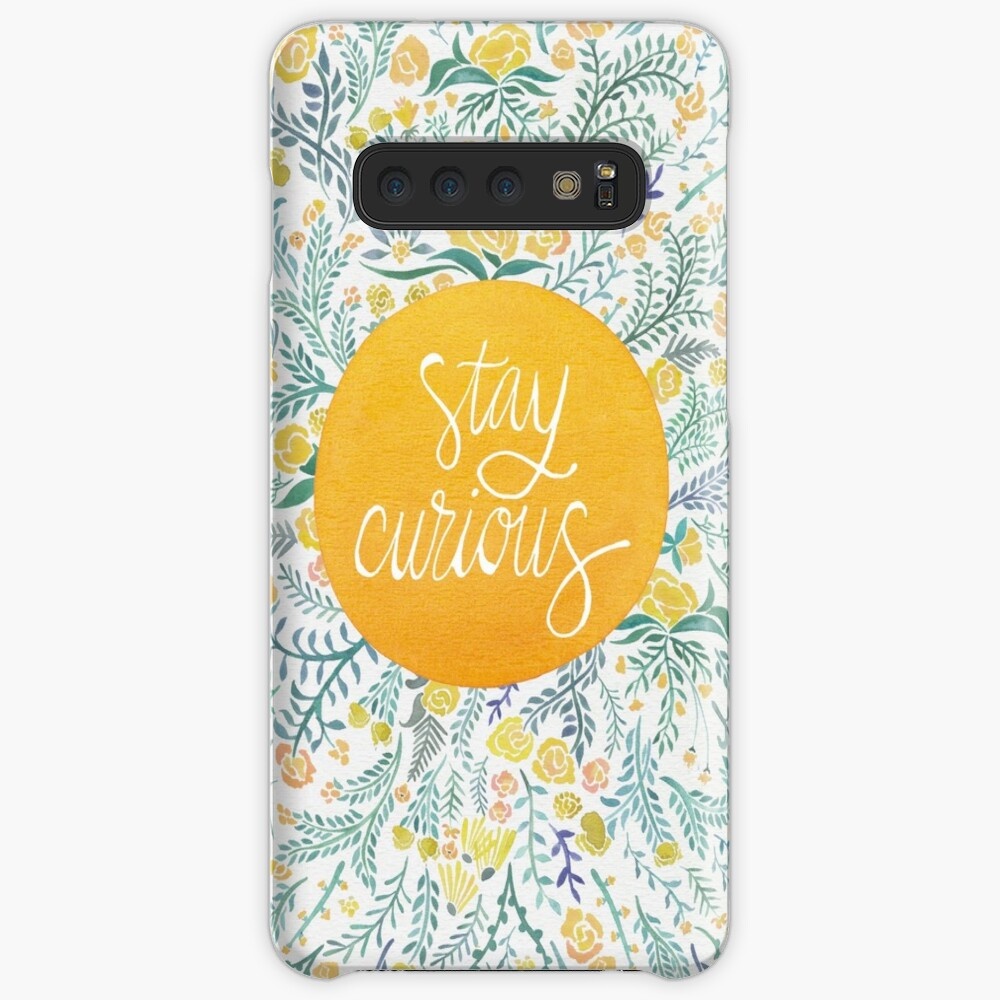 Stay Curious – Yellow & Green Case & Skin for Samsung Galaxy