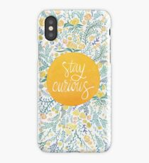 Stay Curious – Yellow & Green iPhone Case/Skin