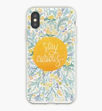 Stay Curious – Yellow & Green iPhone Case