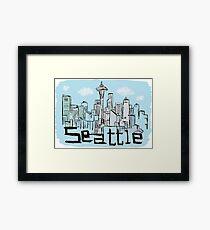 Seattle city Framed Print
